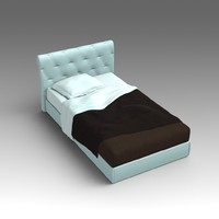 3d model leather bed