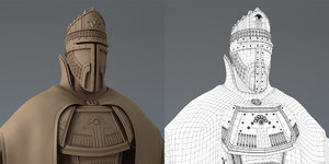 warlord persian character 3d model