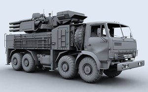 sa-22 pantsir-s1 3d max