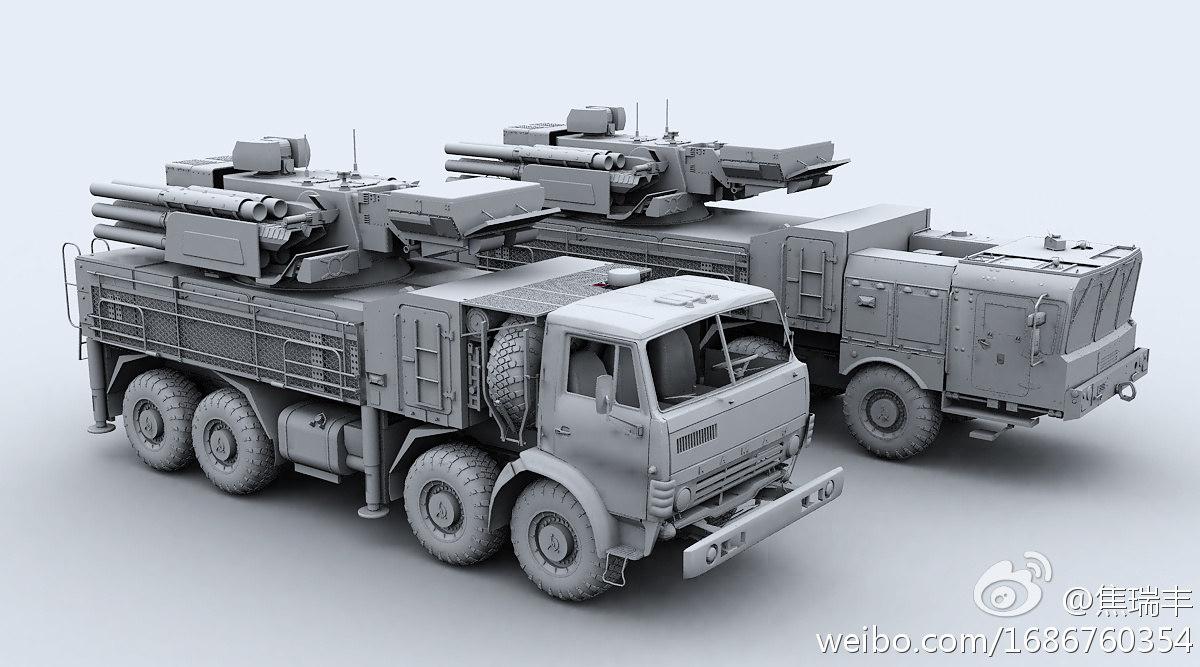 3d sa-22 pantsir-s1 model