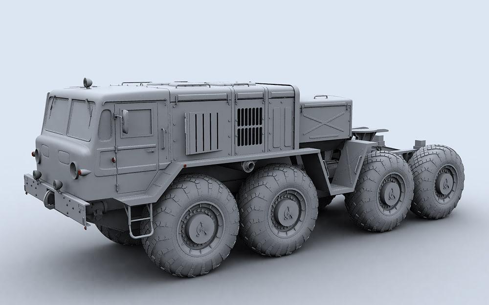 3d maz 537 towing truck