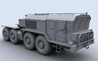 3d kzkt 7428 heavy truck model