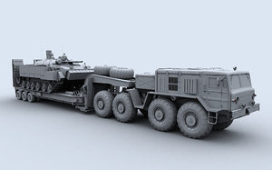 maz 537 trailer 3d max