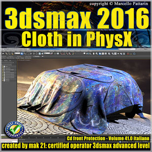 041 3ds max 2016 Cloth PhsyX vol 41 cd front