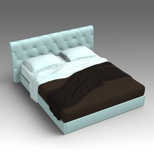 3d leather bed model