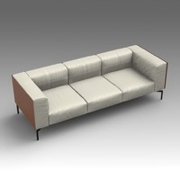 leather sofa 3d x