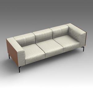 leather sofa 3d x