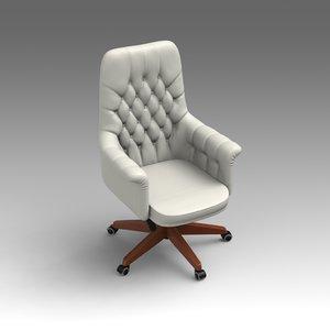 3d leather swivel chair model