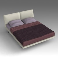 leather bed 3d model