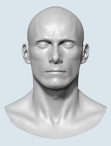 3d model male base head