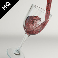 wine pouring 3d model