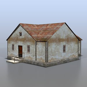 3d house rural russia model