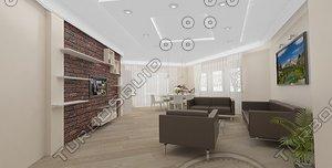 living room dining 3d model