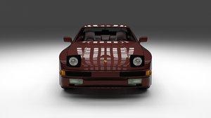 3d model porsche 944s interior