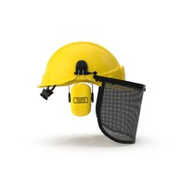 safety helmet face ears 3d max