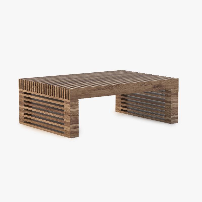 3d reclaimed timber slat model