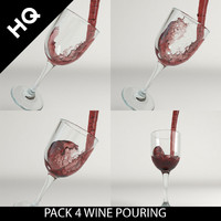 Pack 4 wine pouring