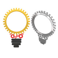 mechanical machine bulb gears 3d max