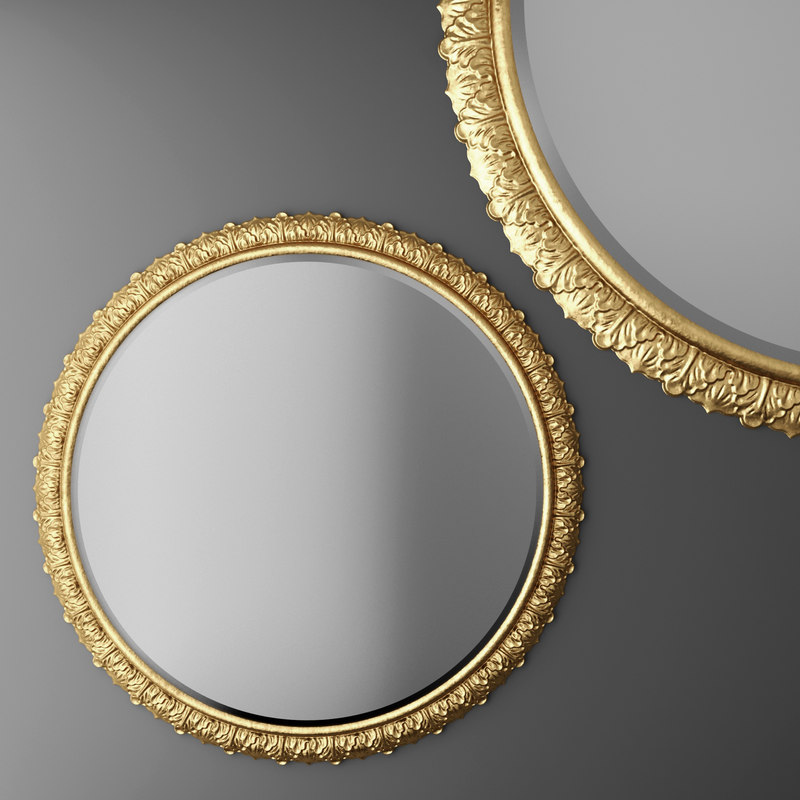 3d baroque frame mirror
