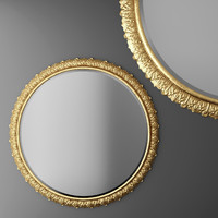 3d baroque frame mirror
