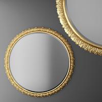 Baroque frame, round Mirror