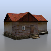 house rural russia 3d max