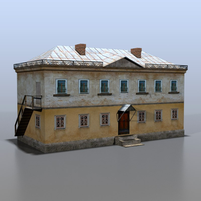 3d model of house rural russia