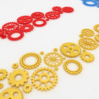 Mechanical machine gears