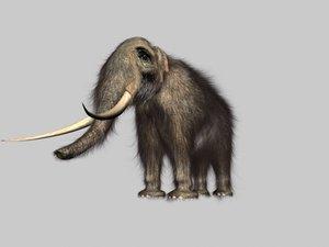 mammoth hair fur 3d 3ds