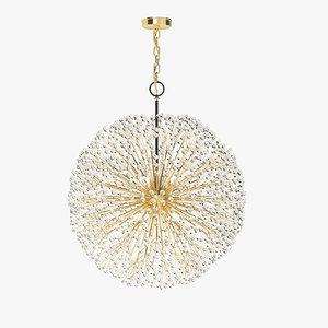3d model remains lighting dandelion