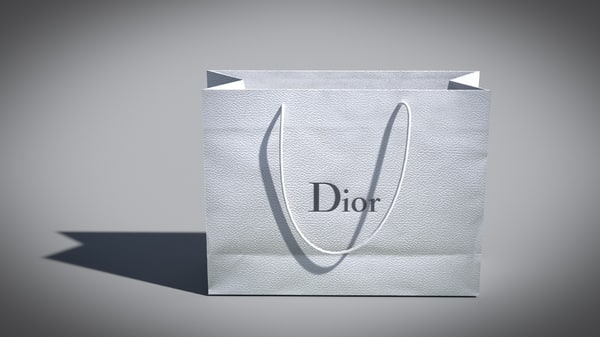 designer shopping bag 3ds