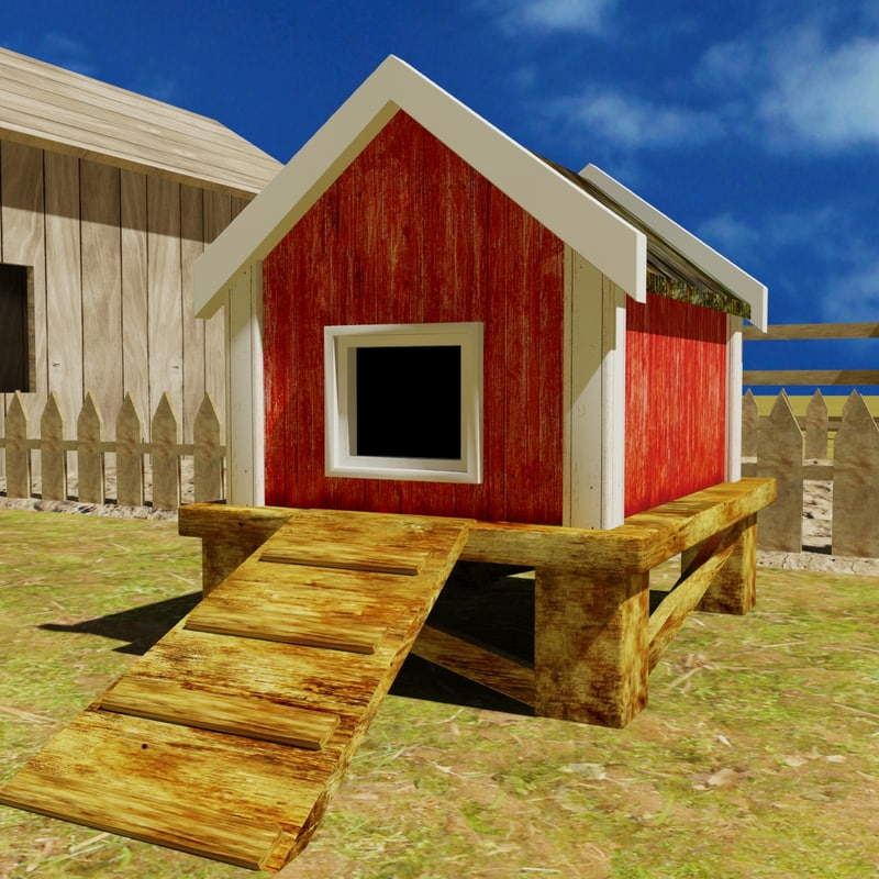 chicken house 3d 3ds
