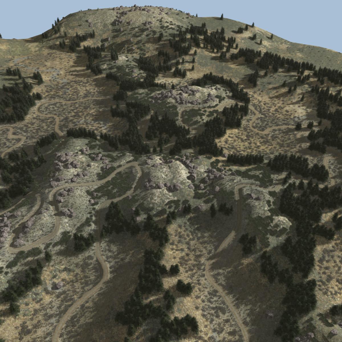 3d model terrain gravel road
