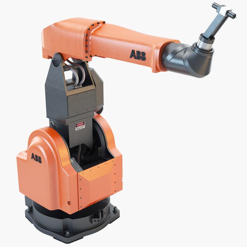 3d model abb irb 580 industrial robot