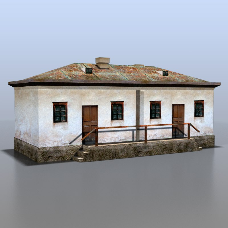 3d model house rural russia