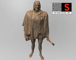 3d monument guanchen scanned