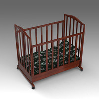 crib baby 3d model