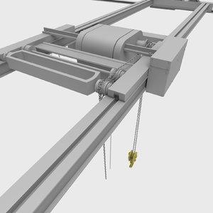 3d overhead crane model