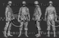3d model german soldier