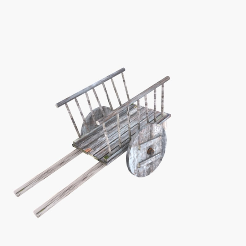 3ds max medieval hay cart