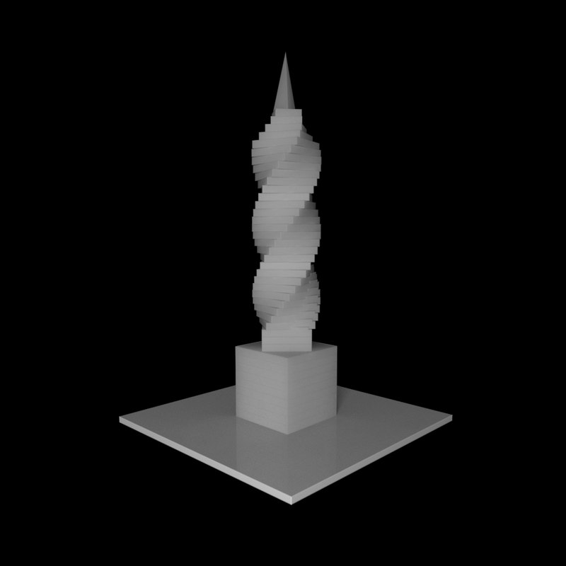 3d model of f tower