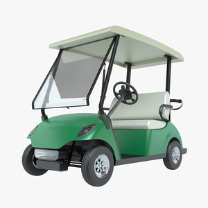 photoreal golf cart 3dm