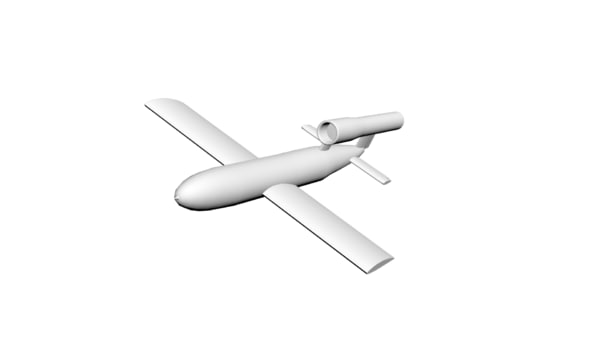 3ds max v-1 flying bomb