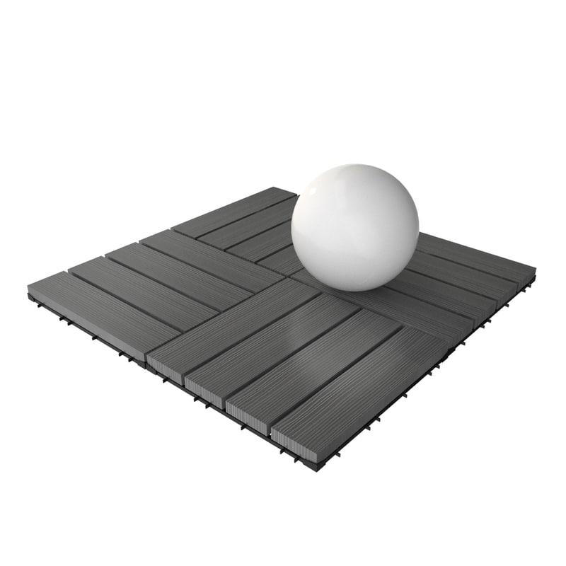 wooden deck tile v1 3ds