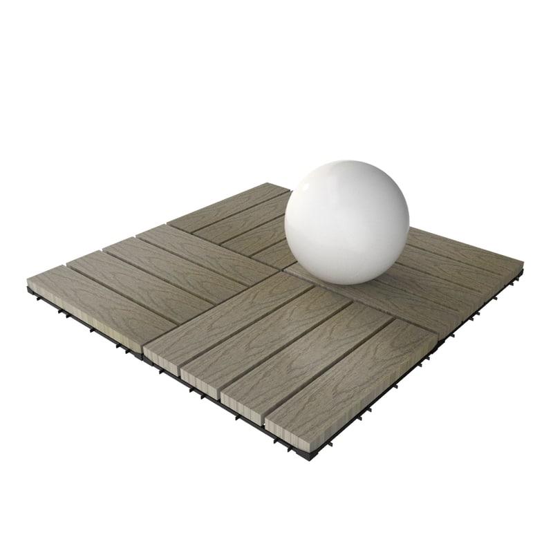 wooden deck tile v8 3d model