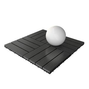 obj wooden deck tile v9