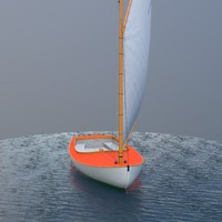 3d sailboat sailing vessel model