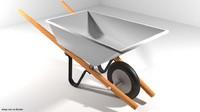 3d model garden wheelbarrow barrow