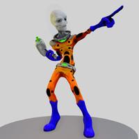 alien 3d obj