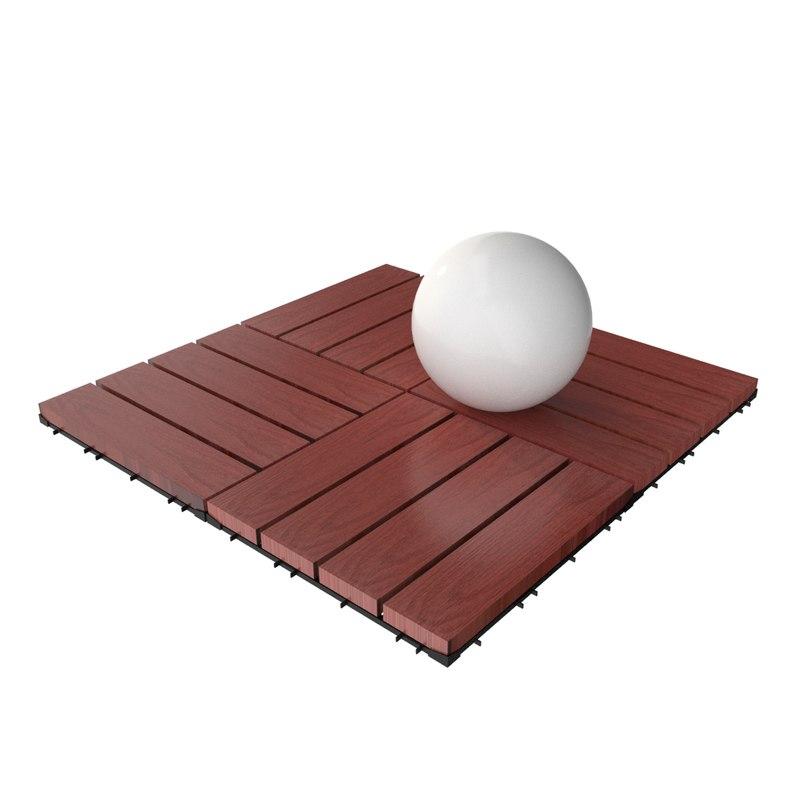 wooden deck tile v11 3ds